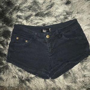 Full tilt black jean shorts size 1